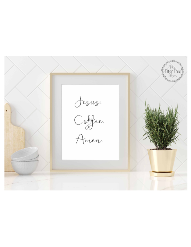 LISTING JESUS COFFEE AMEN